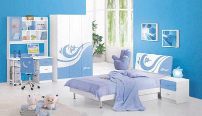 Kết quả hình ảnh cho phòng sơn màu xanh dương