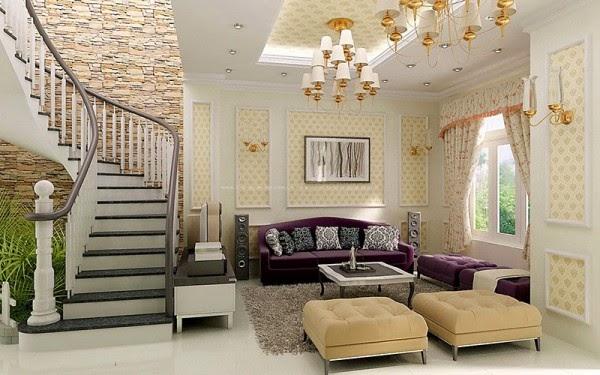 Phòng khách nhẹ nhàng, trang nhã với rèm cửa màu sắc hài hòa