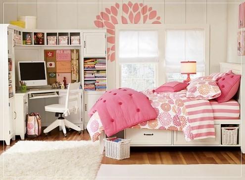 căn phòng màu hồng cho teen girl