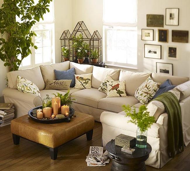 hài hòa sofa trắng cùng gối tựa hoa văn