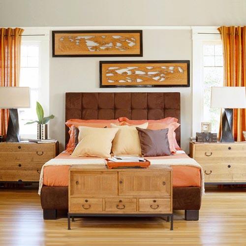 phòng ngủ gam màu sáng