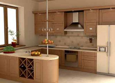 Phòng bếp đẹp đơn giản, hiện đại